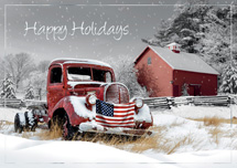 Rustic Glory Patriotic Holiday Cards
